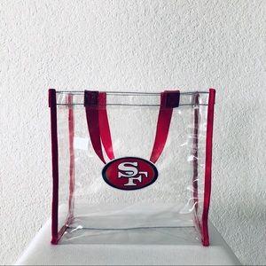 NFL | SF 49ers Clear Tote Bag